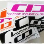 CIDロゴステッカーを各種サイズ&カラーで作りました
