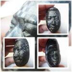 【CFRP試作】熱硬化性CFRPハイブリット成形した顔型