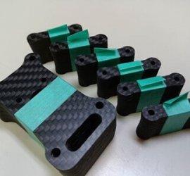 ヒロセ金型 CFRP切削加工部品 ラジコンパーツ